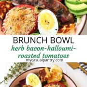 breakfast salad with savory brunch flavors