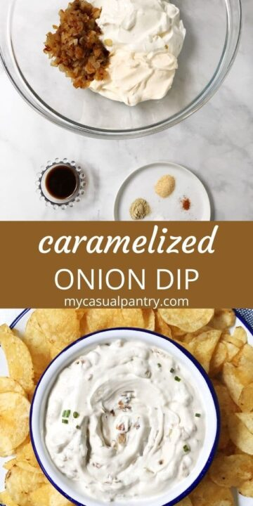 separate ingredients and chips and dip in a bowl