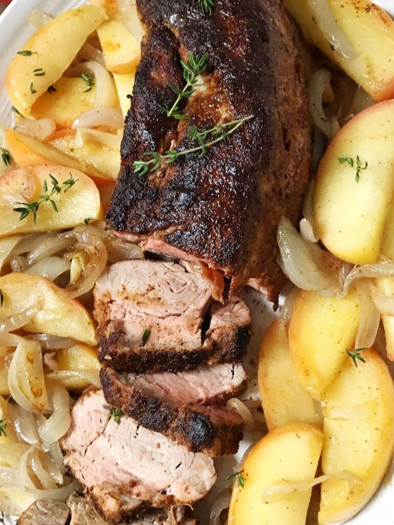 close up of pork