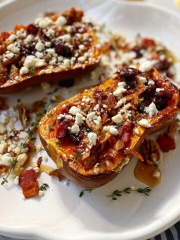 platter of roasted honeynut squash