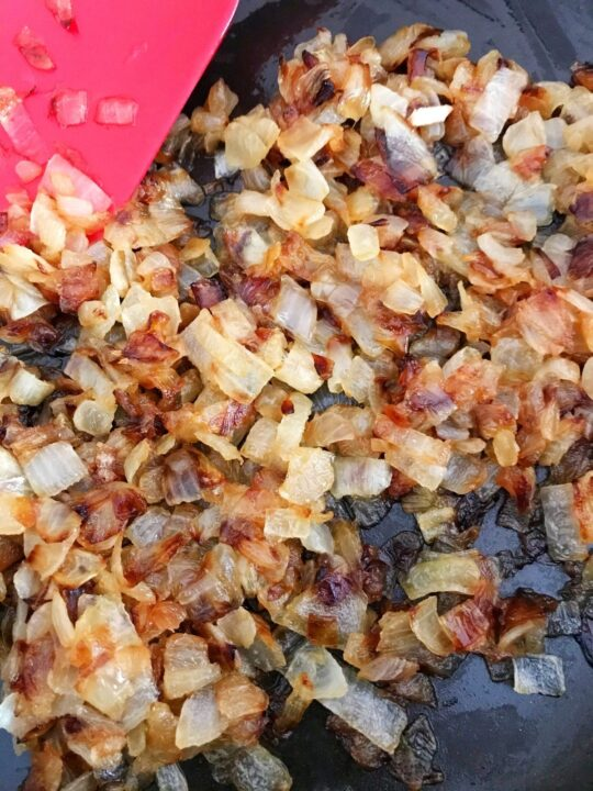 pan of caramelized onions