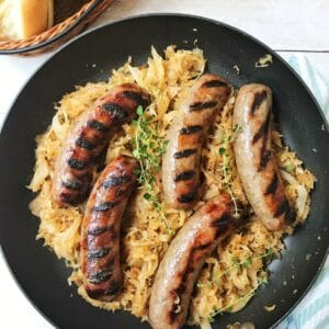 main dishes brats and kraut