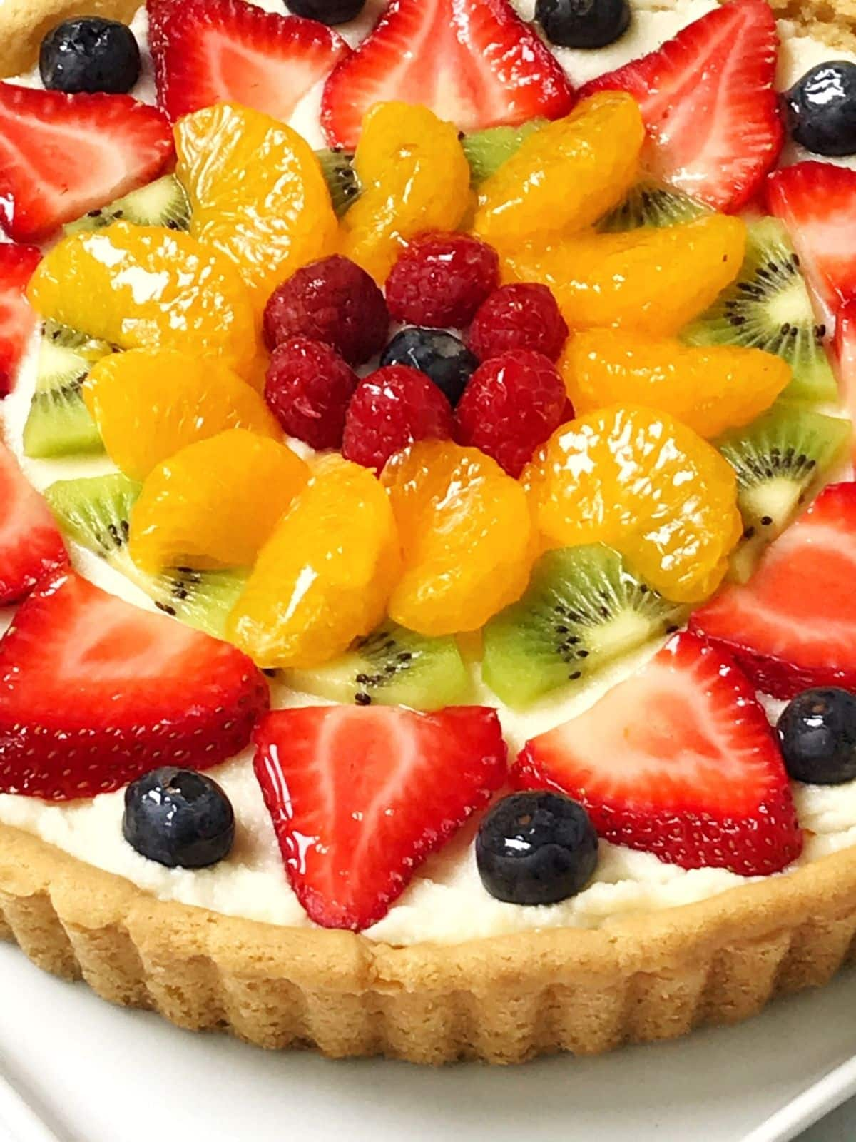 close up of fruit pizza