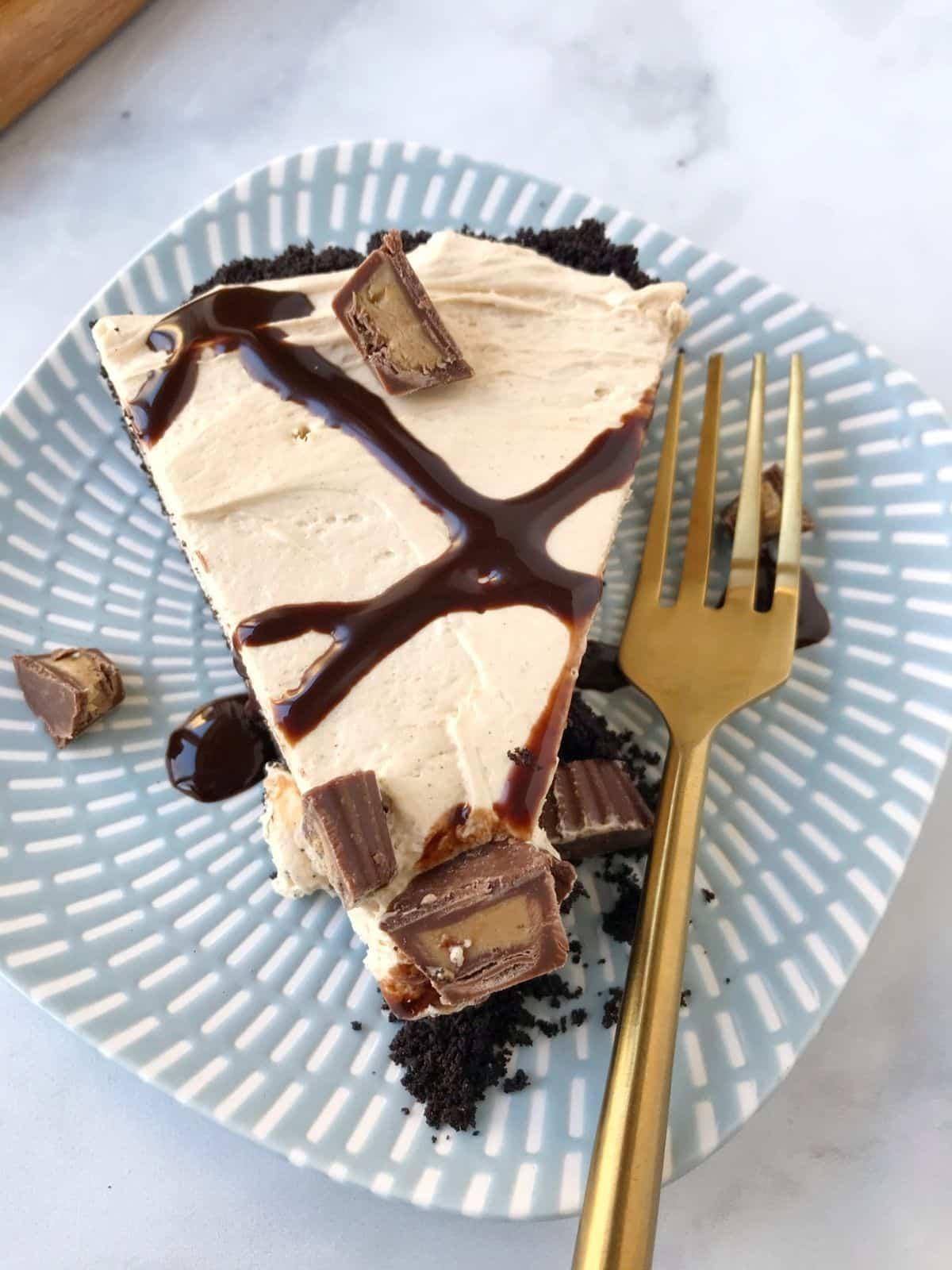 slice of tart on a plate