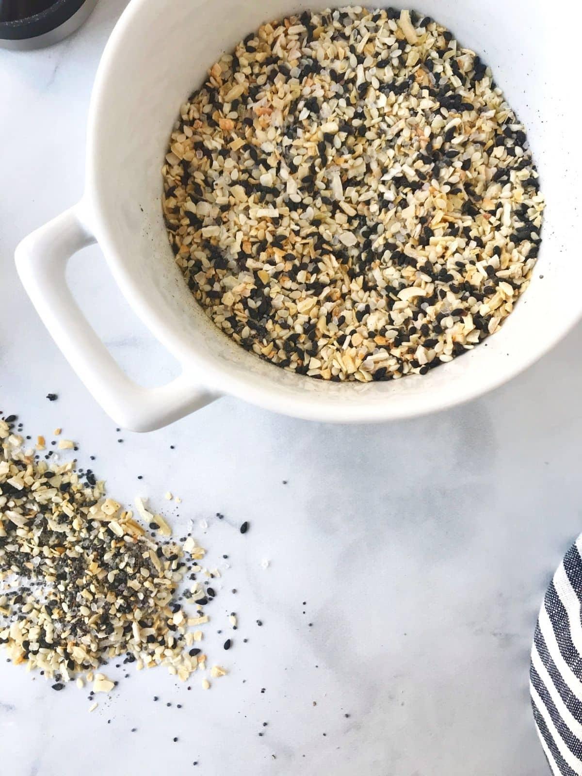 bowl of seasoning mix