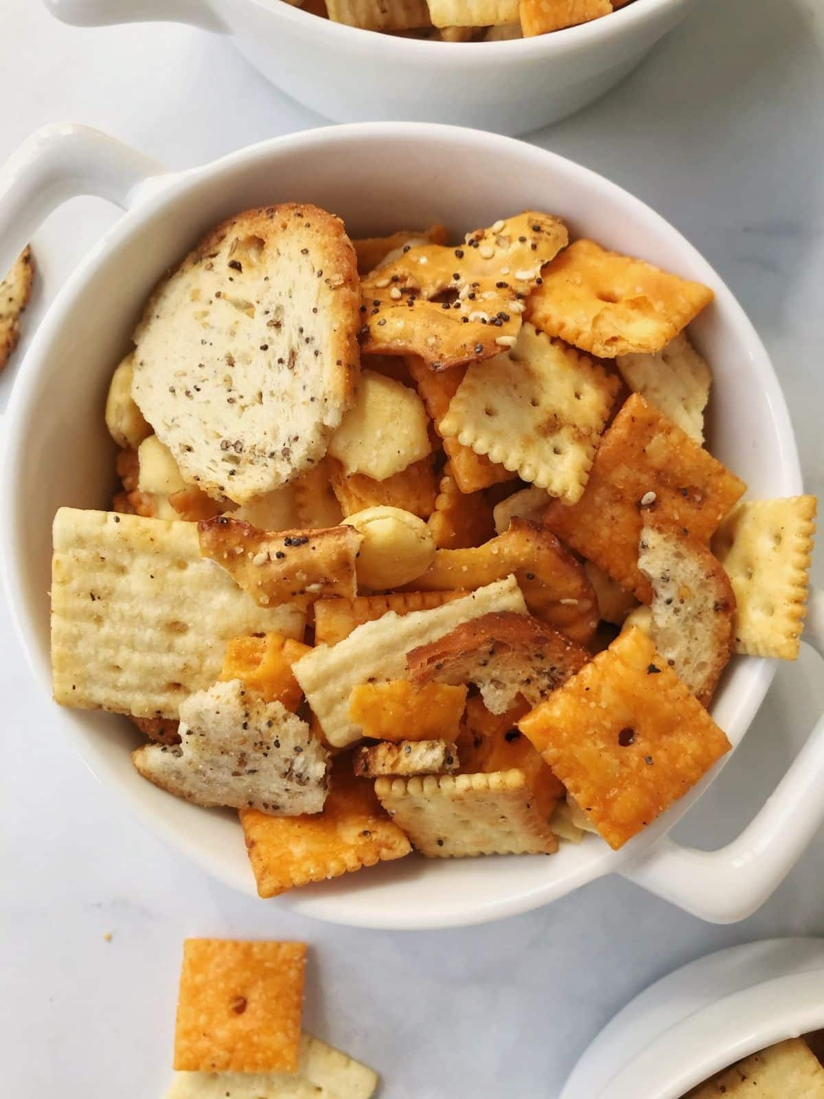 individual bowl of snack mix
