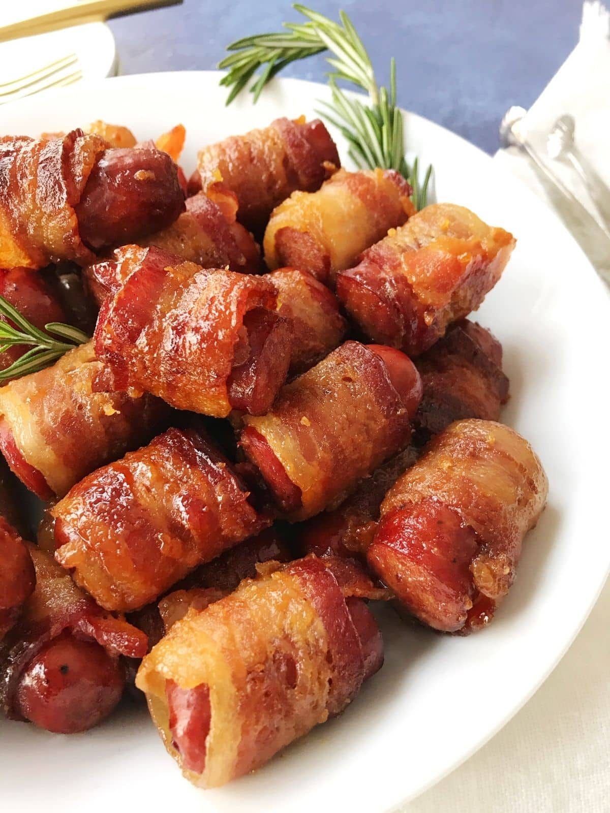 sausages on a white plate