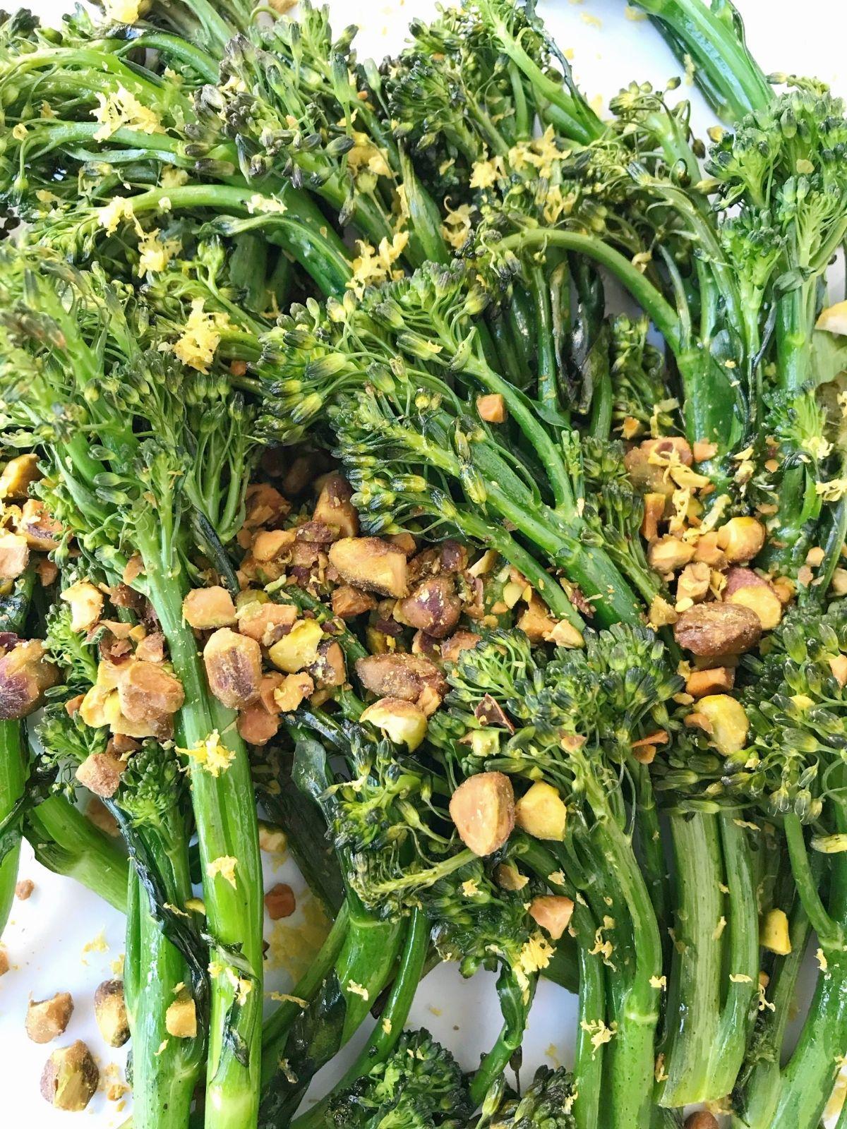 close up of broccolini