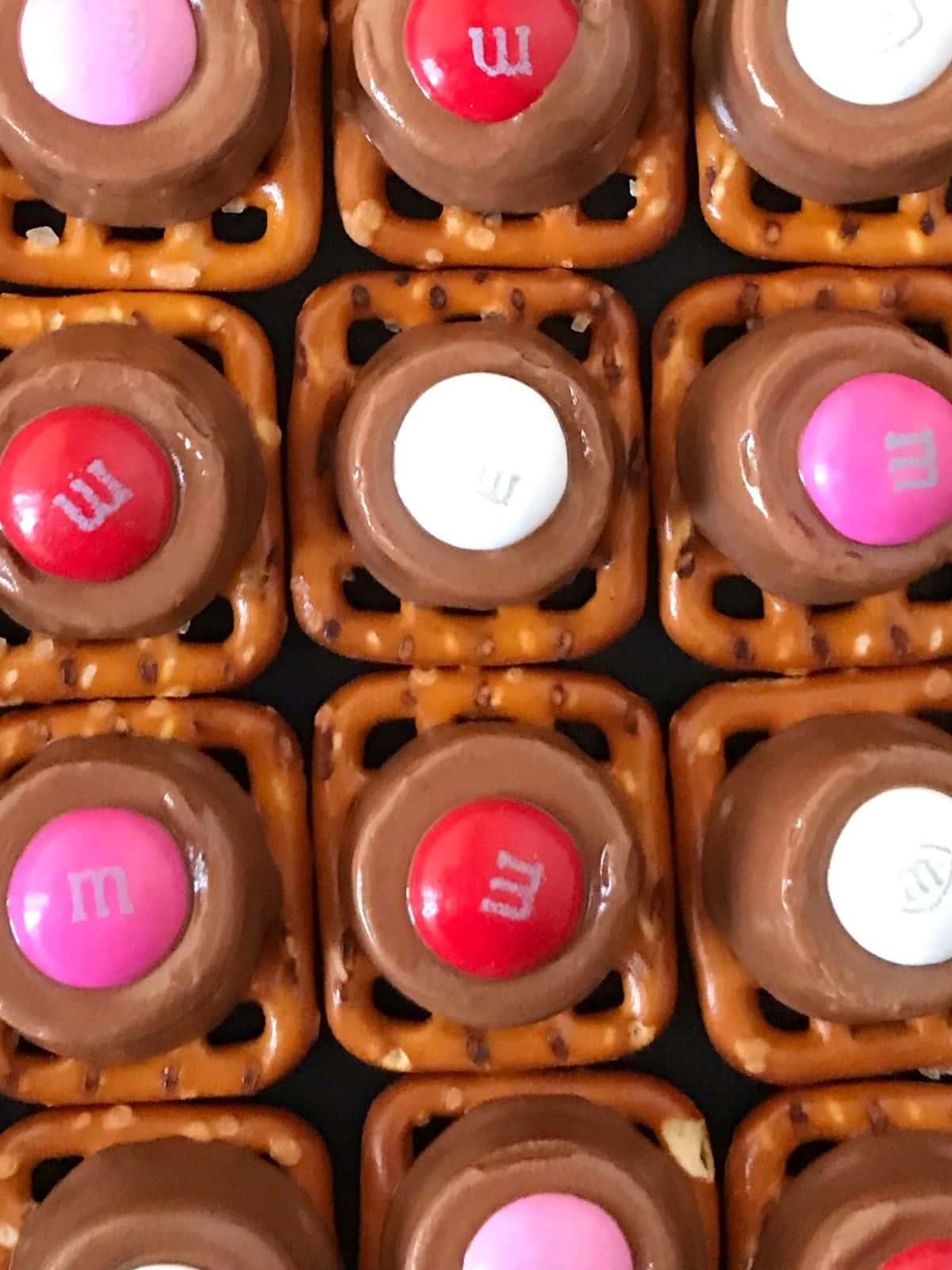 close up of array of pretzel treats