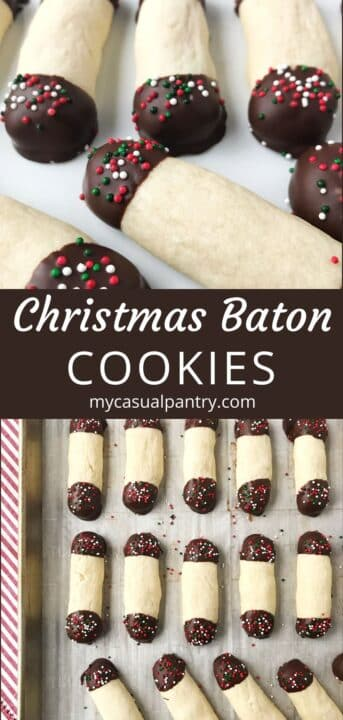 close up of cookies on a plate and a sheet pan of decorated cookies