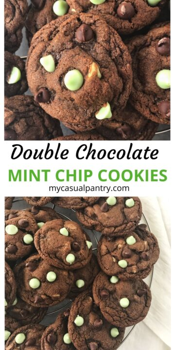 pile of chocolate mint cookies