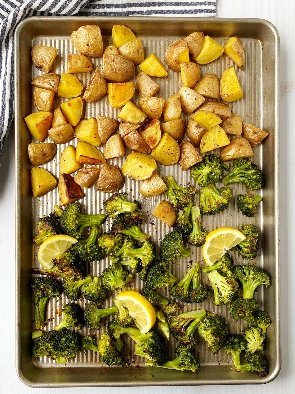 pan of roasted veggies