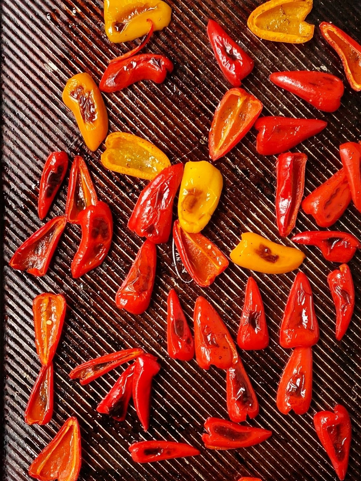 pan of roasted peppers