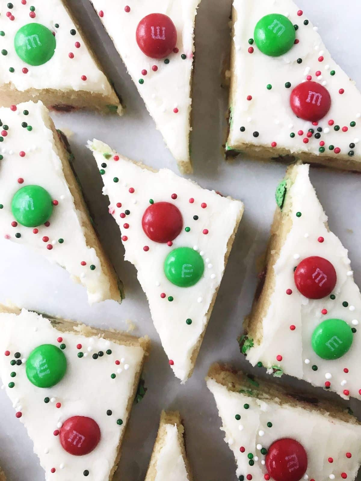 cookie bars in triangles on platter