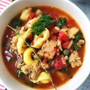 white bowl of soup