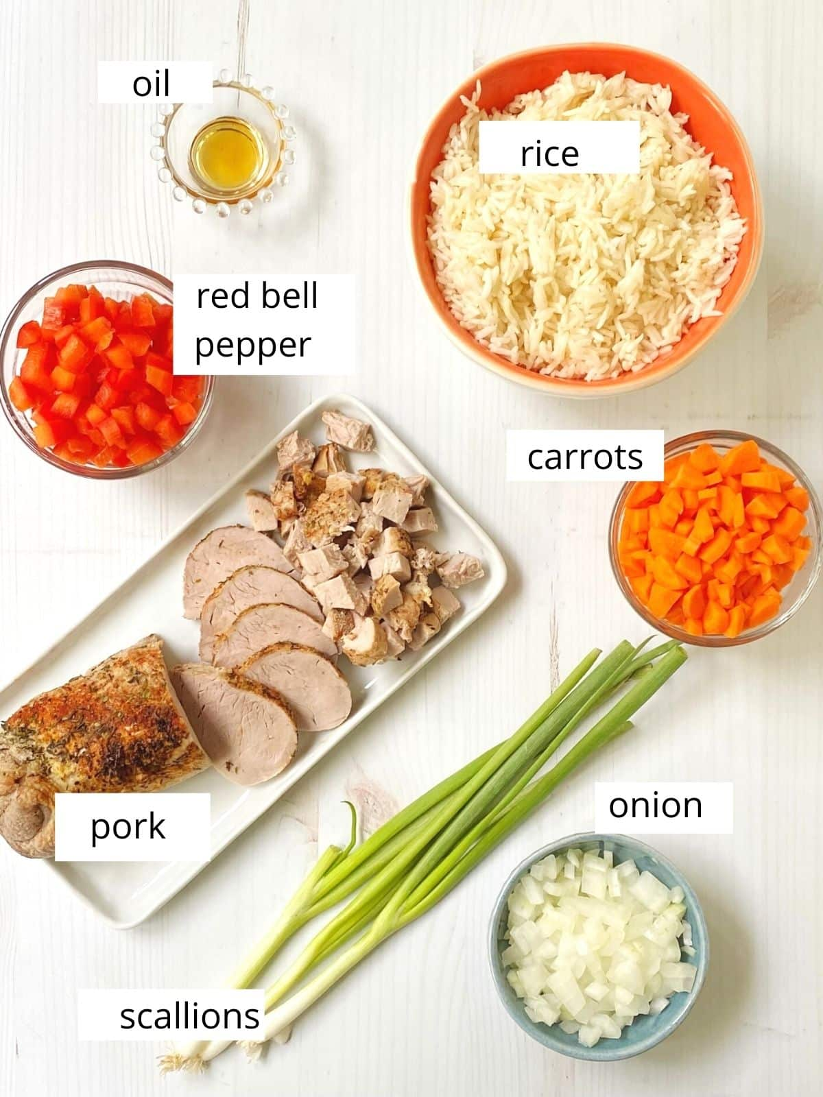 pork fried rice ingredients