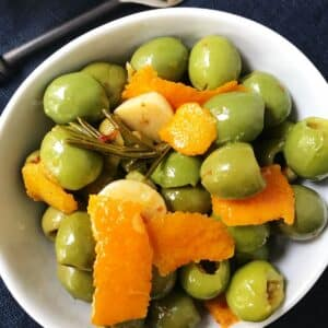 dish or marinated olives.