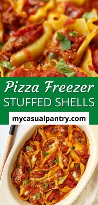pizza freezer stuffed shells casserole.