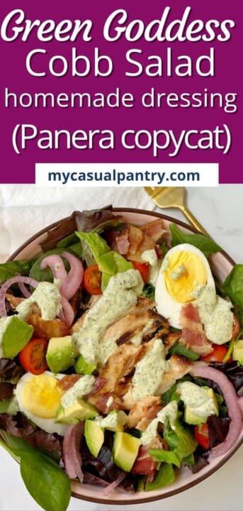 panera green goddess cobb salad.