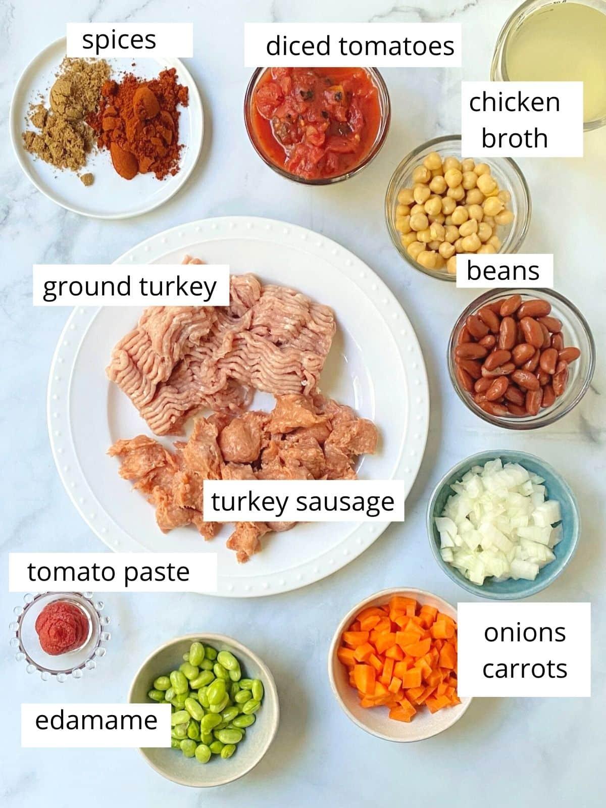 turkey chili ingredients.